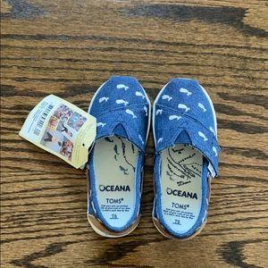 Kids Toms shoes - Tiny Bimini Navy Whale